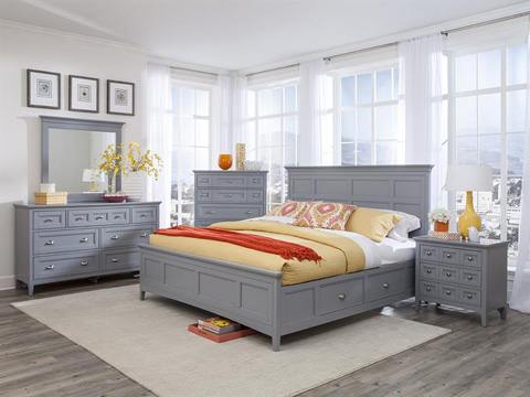 Magnussen Home - Queen Panel Bed with Storage - B3572-55