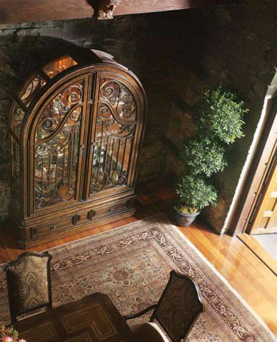 Marge Carson - Arched Scrollwork Display Cabinet - SG09