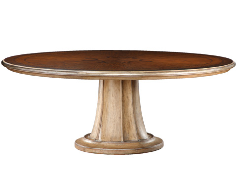 Marge Carson - Round Pedestal Dining Table - RVL08