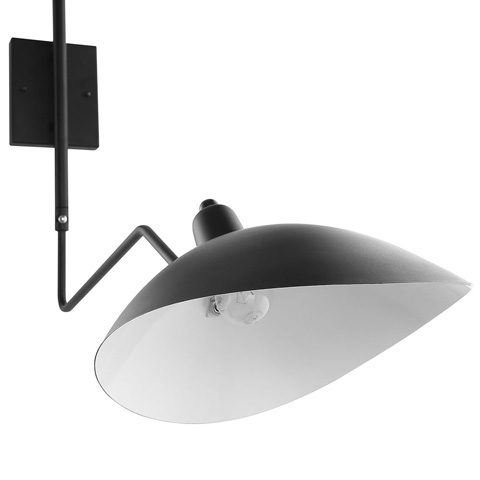 Modway Furniture - View Double Fixture Wall Lamp in Black - EEI-1590