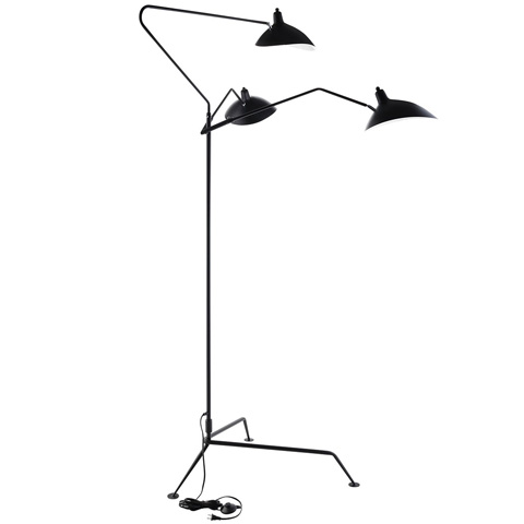 Modway Furniture - View Stainless Steel Floor Lamp in Black - EEI-1593