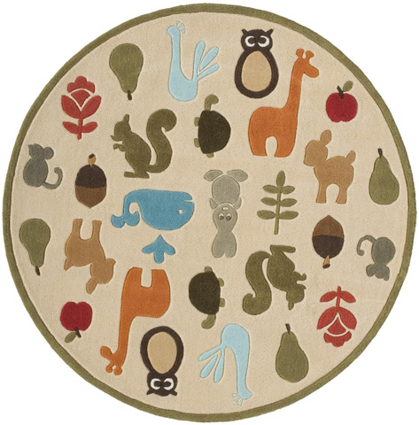 Momeni - Lil Mo Whimsy Rug in Ivory - LMJ-02 CRITTERS IVORY