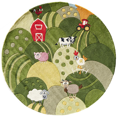Momeni - Lil Mo Whimsy Rug in Grass - LMJ-11 FARM LAND GRASS