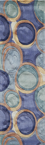 Momeni - New Wave Rug in Blue - NW-133 BLUE