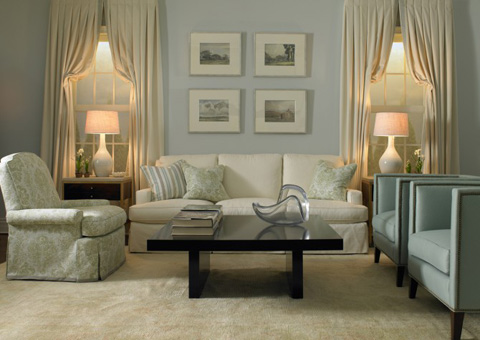 Mr. and Mrs. Howard by Sherrill Furniture - Fairfax Three Cushion Sofa - H744S