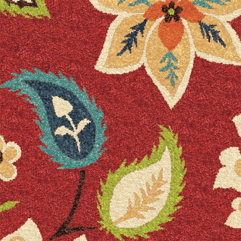 Orian Rugs - Garden Chintz Red 5'2