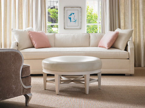 Pearson - Round Upholstered Ottoman - 169-00