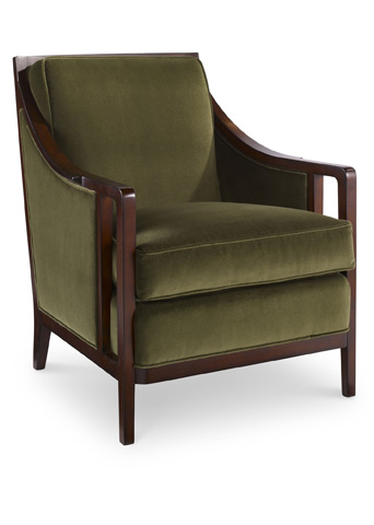 Pearson - Exposed Wood Trim Accent Chair - 420-00