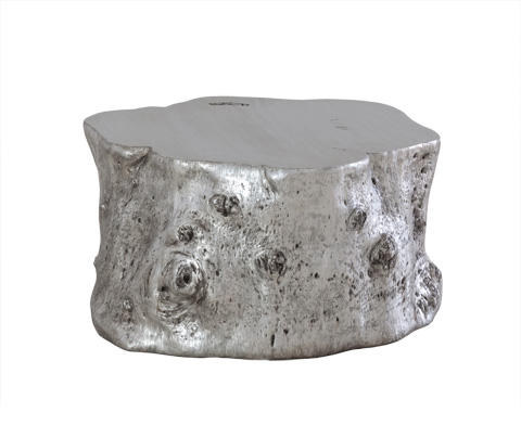 Image of Silver Leaf Log Cocktail Table