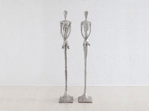 Image of Silver Skinny Male Sculpture