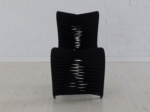 Phillips Collection - Seat Belt Dining Chair in Black - B2061BB