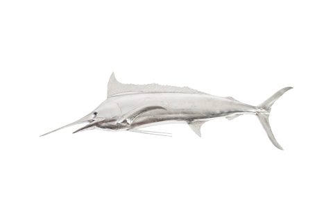 Image of Blue Marlin Fish in Silver Leaf