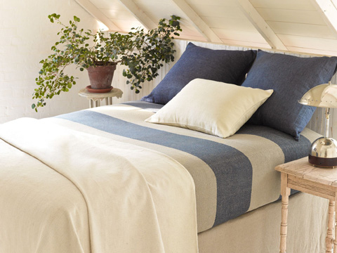 Pine Cone Hill, Inc. - Chambray Linen Ink Duvet Cover - King - CHLIDCK