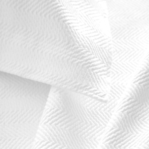 Pine Cone Hill, Inc. - Herringbone White Matelasse Coverlet - King - M7HBWK