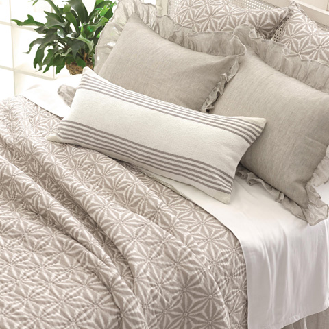 Pine Cone Hill, Inc. - Ibiza Shale Decorative Pillow - IBSHDPDB
