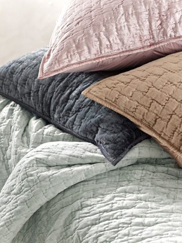 Pine Cone Hill, Inc. - Matte Velvet Dusty Plum Quilt - King - Q239DPK
