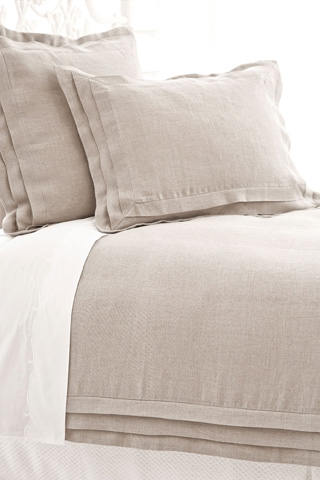 Pine Cone Hill, Inc. - Pleated Linen Natural Duvet Cover - King - PLNDCK