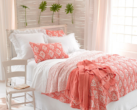 Pine Cone Hill, Inc. - Varkala Coral Quilt - King - Q258COK