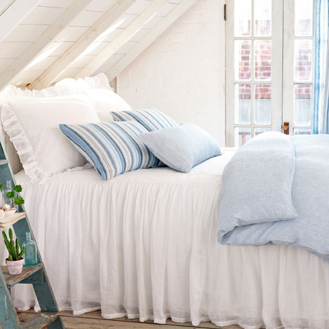 Pine Cone Hill, Inc. - Corsica Linen Duvet Cover in Full/Queen - CLDCQ
