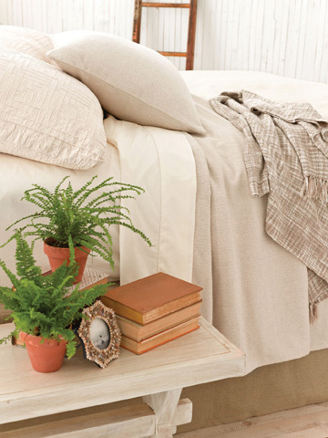 Pine Cone Hill, Inc. - Cotton Twill Oatmeal Bed Skirt in Queen - CTOBSQ