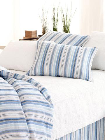 Pine Cone Hill, Inc. - Honfleur Linen Bed Skirt in Queen - HLBSQ