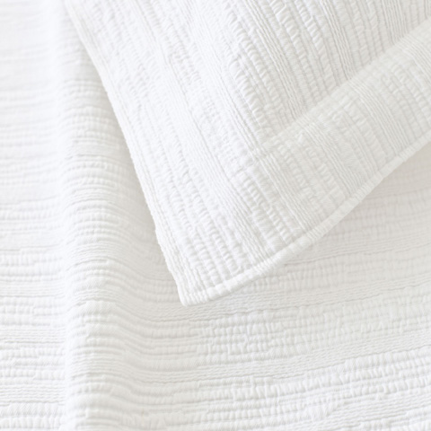 Pine Cone Hill, Inc. - Hardwood White Matelassé Coverlet in Queen - M16WQ