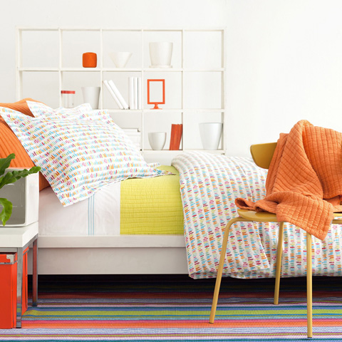 Pine Cone Hill, Inc. - Boyfriend Orange Matelassé Throw - M21OTHR
