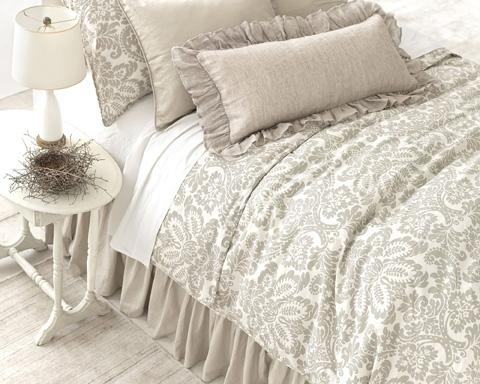 Pine Cone Hill, Inc. - Savannah Linen Chambray Dove Grey Pillow - SADGDPDB