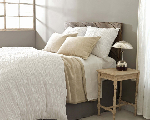 Pine Cone Hill, Inc. - Smocked White Duvet Cover in Full/Queen - SMOWDCQ