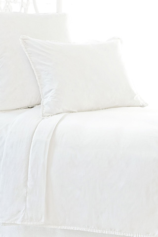 Pine Cone Hill, Inc. - Petite Ruffle White Duvet Cover in Full/Queen - SPRWDCQ