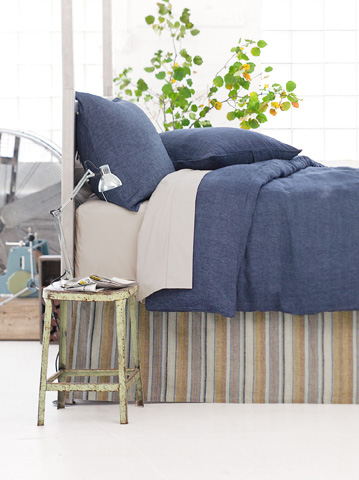Pine Cone Hill, Inc. - Treehouse Linen Bed Skirt in Queen - TLIBSQ