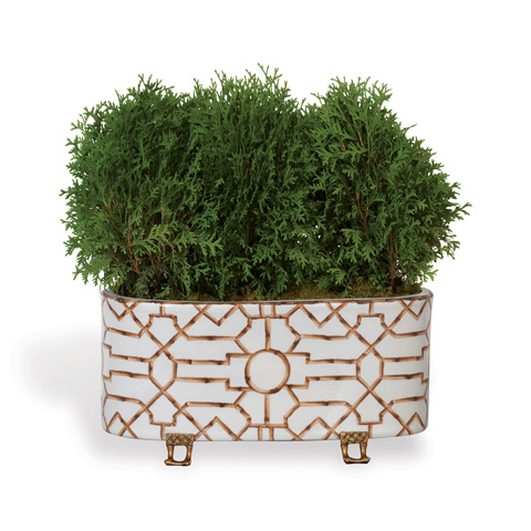 Port 68 - Baldwin White Oval Planter - ACBS-223-09