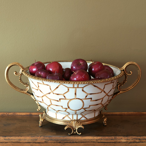 Port 68 - Baldwin White Centerpiece Bowl - ACCS-223-10