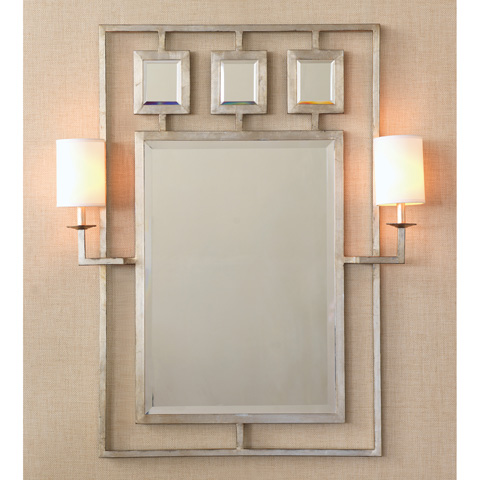 Port 68 - Avenue Silver Mirror with Sconces - ACFS-174-05