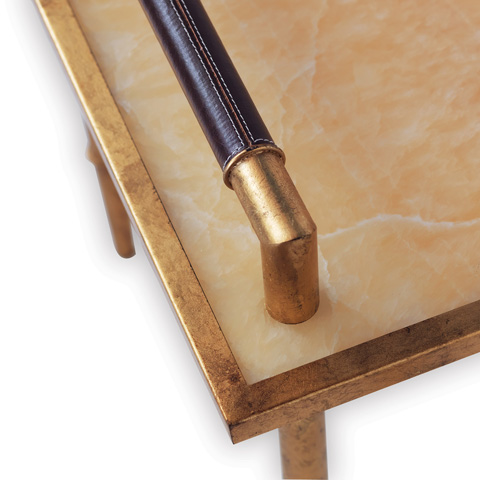 Port 68 - Benton Gold and Marble Table - AFDS-214-01