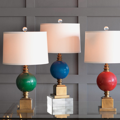Port 68 - Rutherford Turquoise Lamp - LPAS-255-01