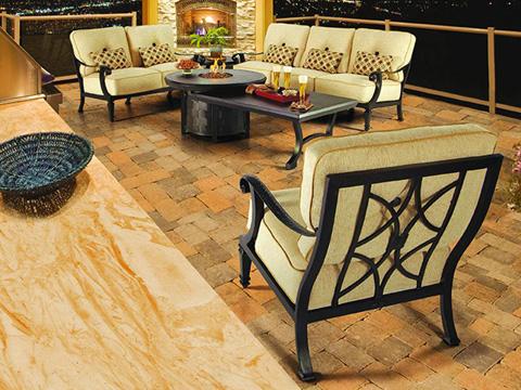 Castelle - Bellagio High Back Cushioned Lounge Swivel Rocker - 2616T