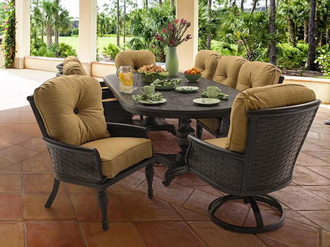 Castelle - English Garden High Back Lounge Swivel Rocker - 6116T