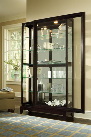 Image of Chocolate Cherry Two Way Sliding Door Curio