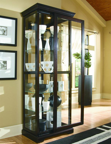 Image of Chocolate Cherry II Two Way Sliding Door Curio