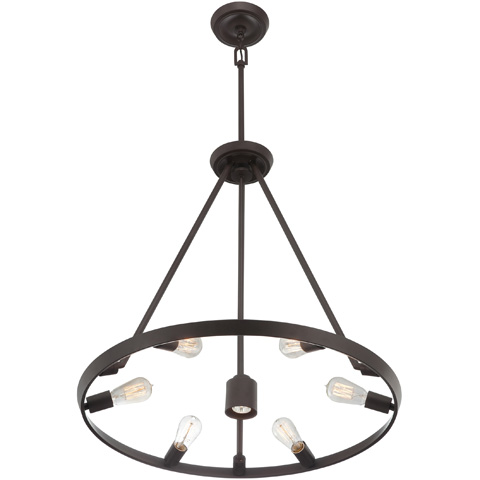 Quoizel - Uptown Theater Row Chandelier - UPTR5007WT