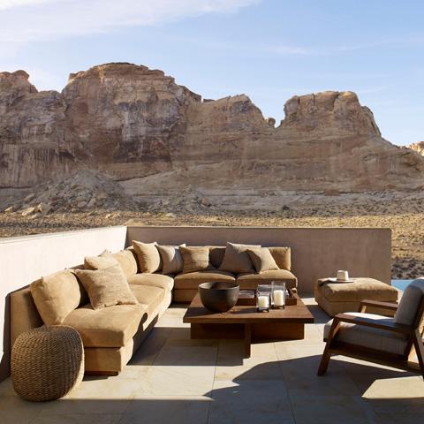 Ralph Lauren by EJ Victor - Desert Modern Ottoman - 831-04