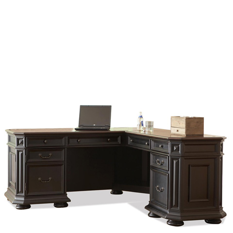 Riverside Furniture - L Desk and Return - 44728