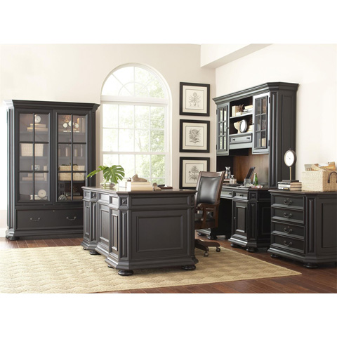 Riverside Furniture - Sliding Door Bookcase - 44734