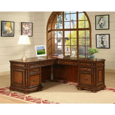 Riverside Furniture - L Desk and Return - 4928