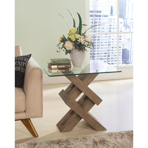 Riverside Furniture - Glass Top Side Table - 26213