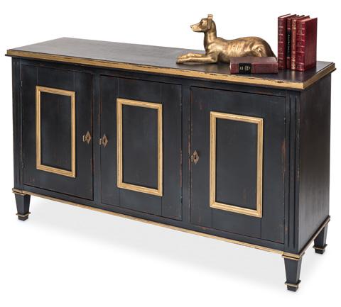 Sarreid Ltd. - Powder Black & Gold Louis XVI Buffet - R059-20