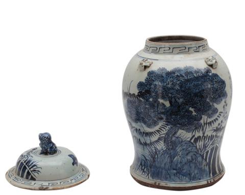 Sarreid Ltd. - Small Tree Ceramic Vessel - 29715