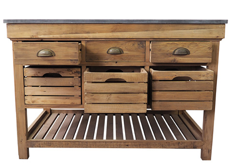 Sarreid Ltd. - Crate Kitchen Island - 29224