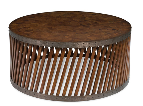 Sarreid Ltd. - Puzzle Top Parquet Centre Table - 30399
